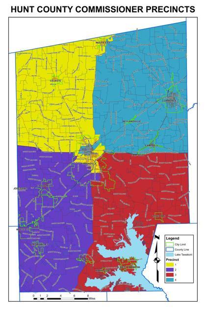 Hunt County Commissioner Precinct Map Heraldbanner Com
