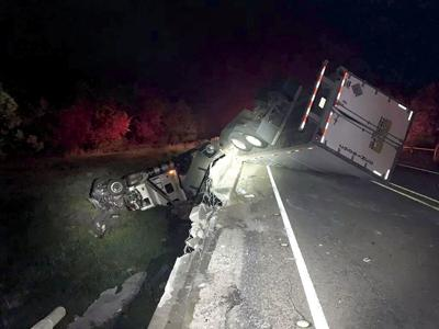 Tractor-trailer crashes