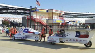 The Greenville High School Iron Lions Solar Car team has entered the Iron Lion III and Regulus during the 2017 Solar Car Challenge at Texas Motor Speedway.