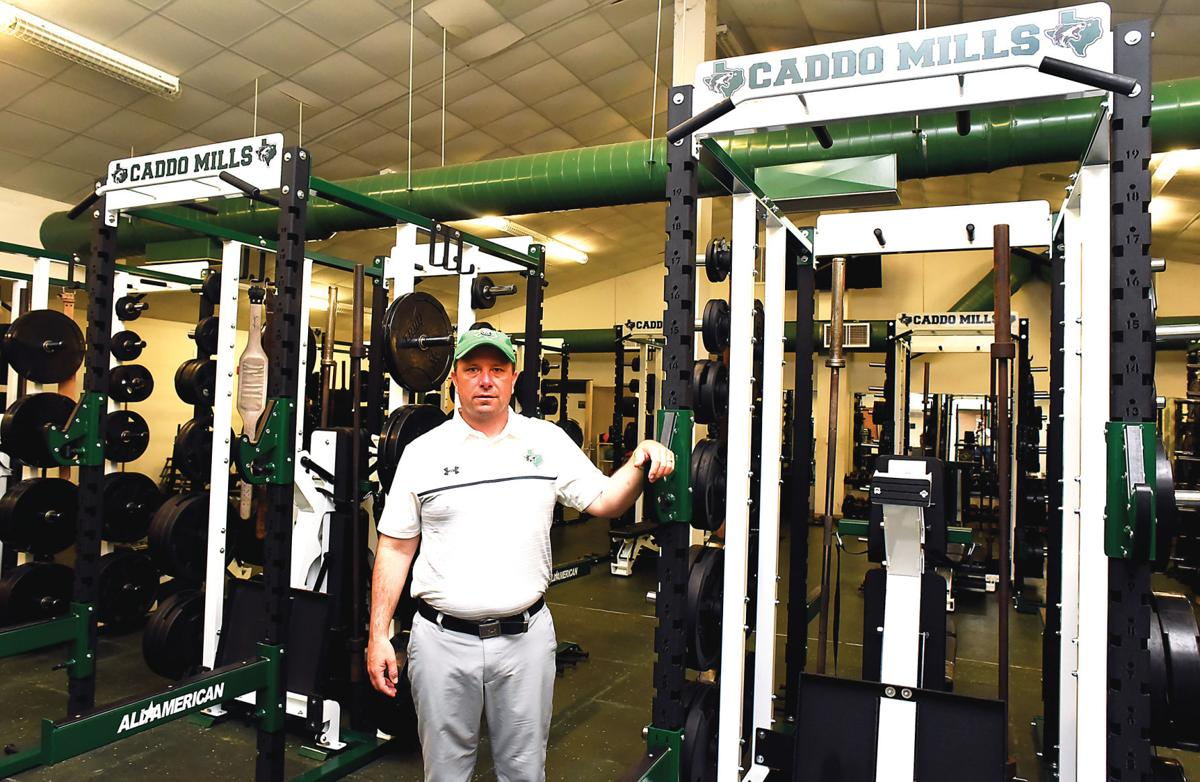 Kodi Crane in the weight room