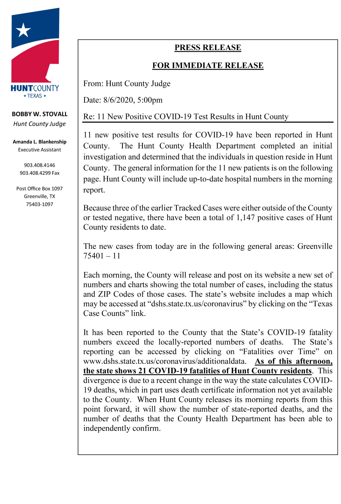 County adds 11 COVID-19 cases