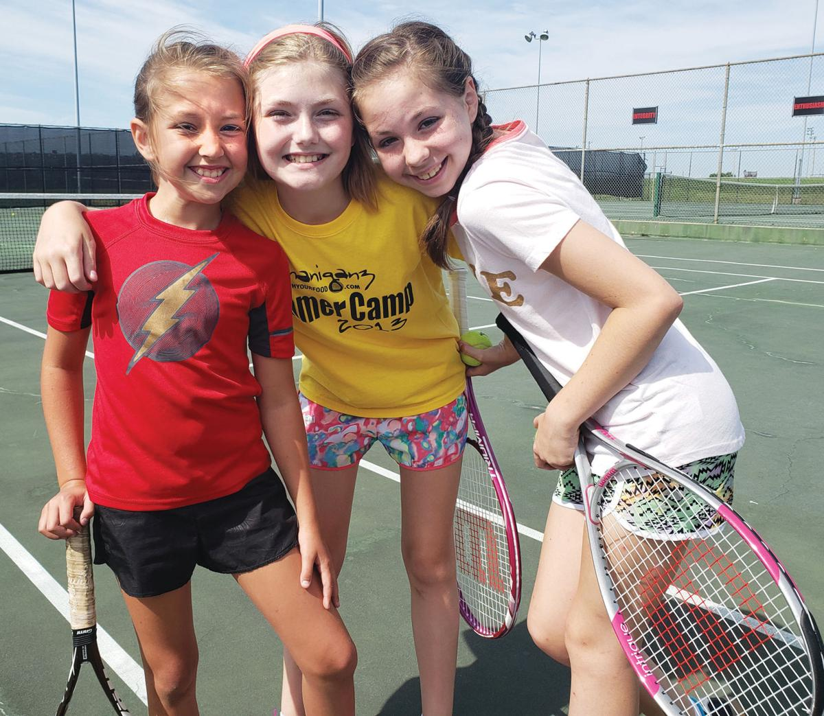 Tennis camp fun