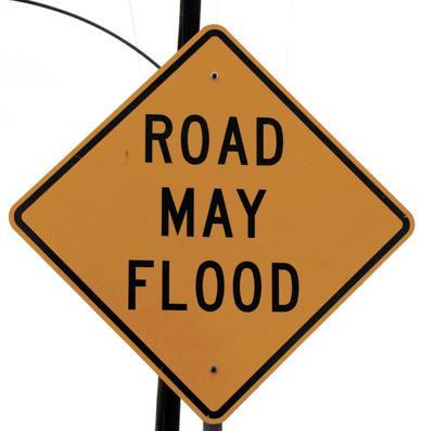 Under flood warning