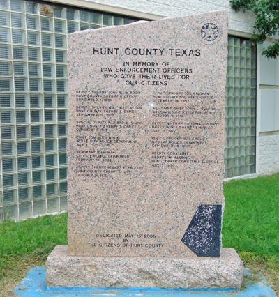 Hunt County Peace Officers Memorial