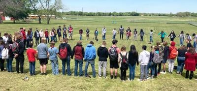 Prayer circle for Kim Gilcrest