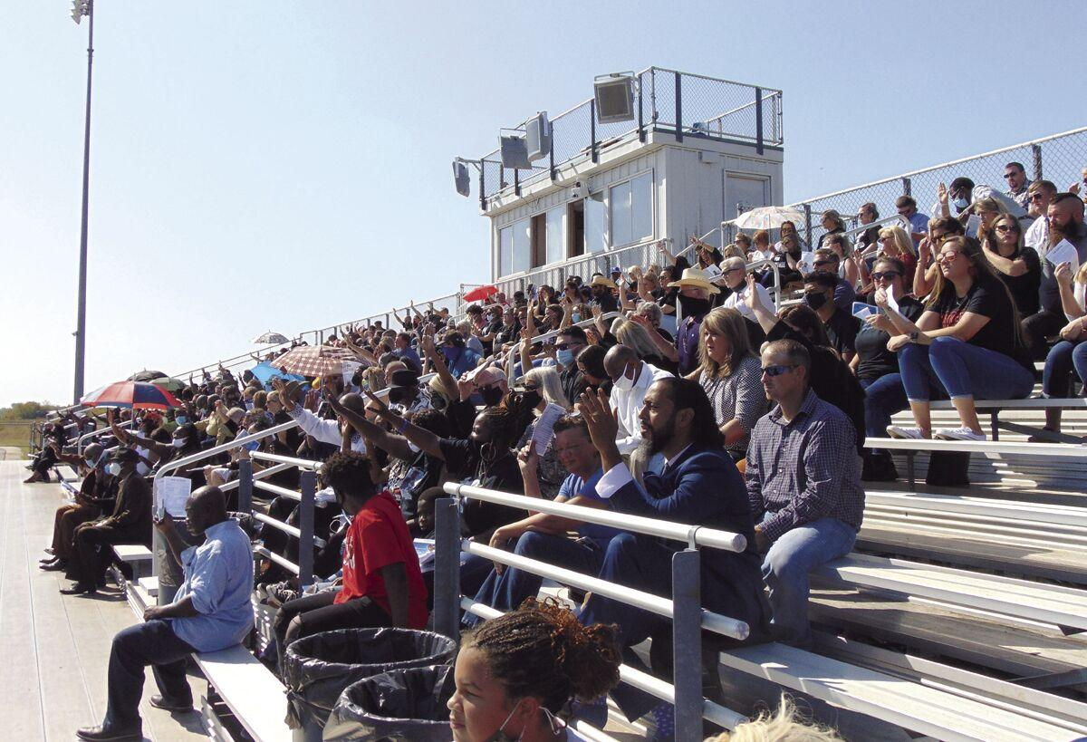 Stands filled