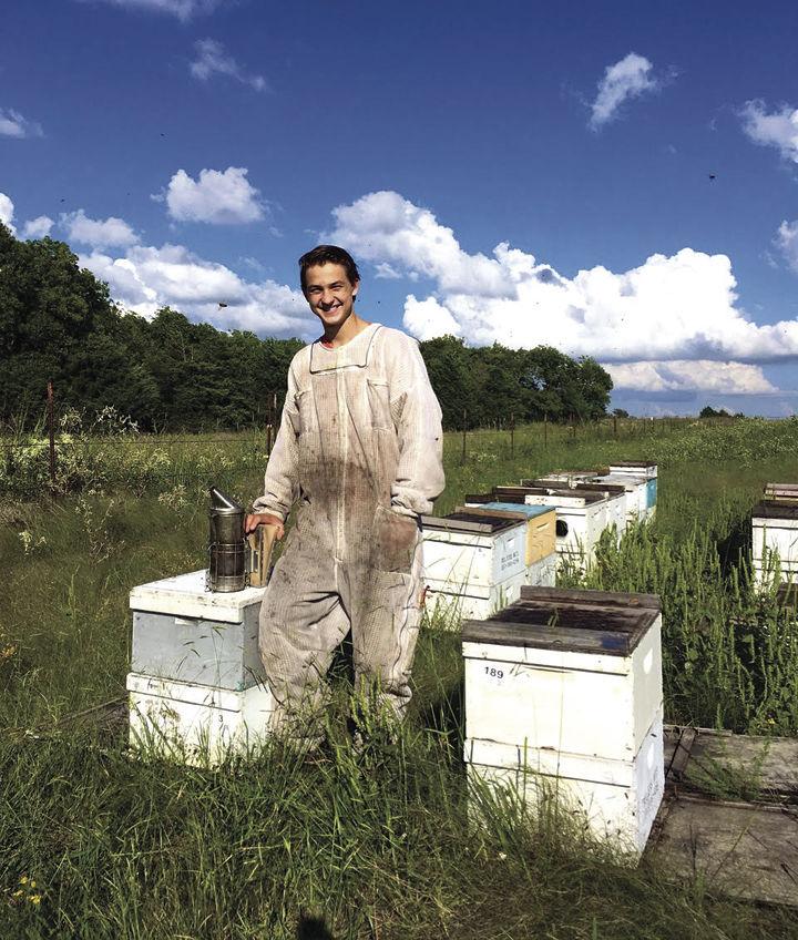 Teen beekeeper
