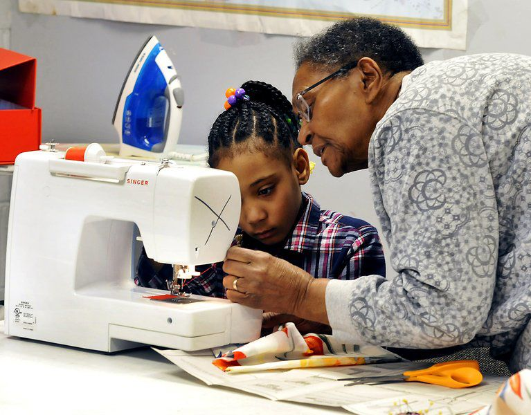 Everything Old Is New Again In Youth Center's Sewing Class Life Interesting Youth Sewing Machine