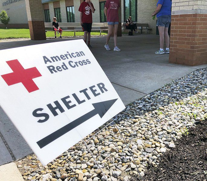 Red Cross quickly set up shelters after tornado