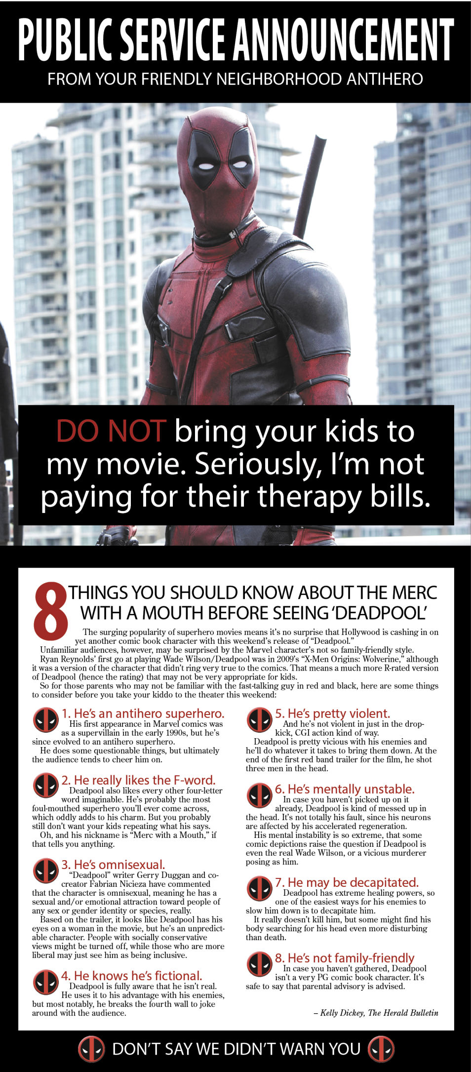 PSA: Don't take the kids to 'Deadpool' this weekend | MAD Life