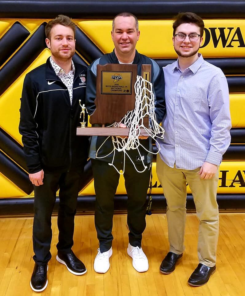 Coach Lee Ingles and sons
