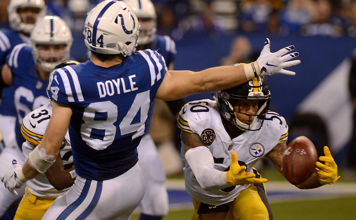 Ryan Shazier, Jack Doyle, Steelers vs Colts, Ryan Shazier interception Colts