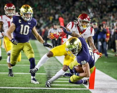 NOTRE DAME FOOTBALL: Lenzy growing into threat at wide receiver