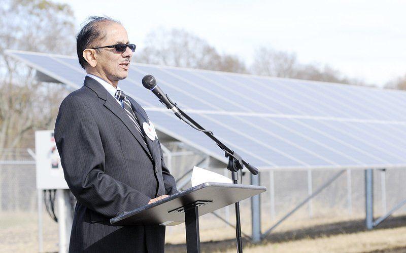 Ruoff Solar sun shines on pendleton solar park local heraldbulletin com