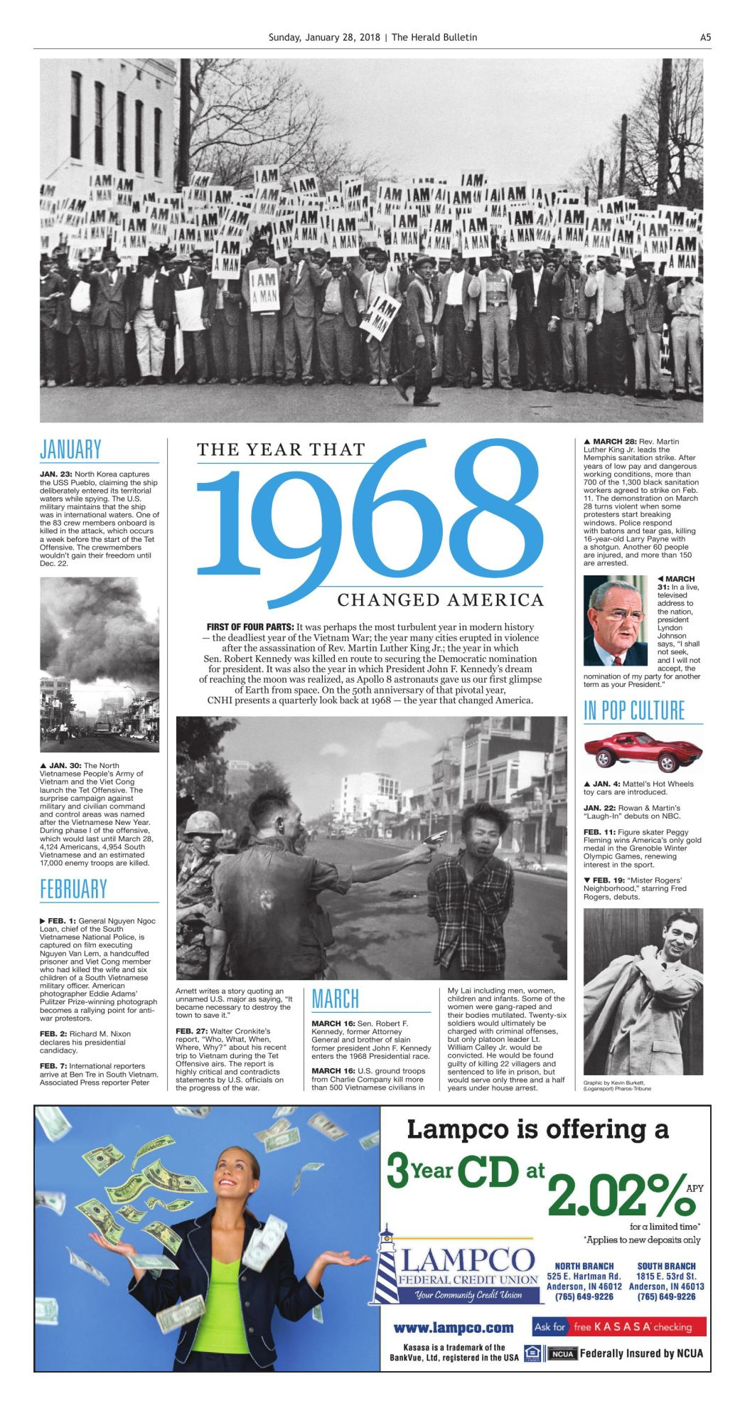 1968: Vietnam War dominated news, but not life in Madison
