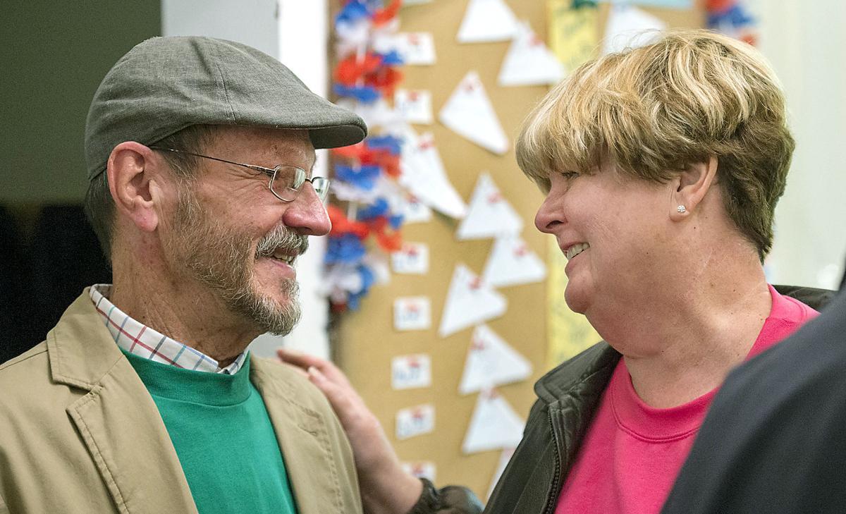 Judith Sharp and Jack Davis