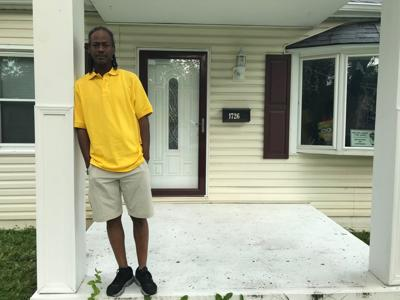 Gerald Williams on his front porch