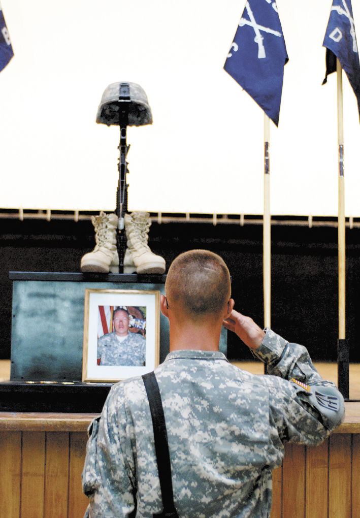 9:45 p m : Ind  Guard soldiers honor Miller in Iraq | Local