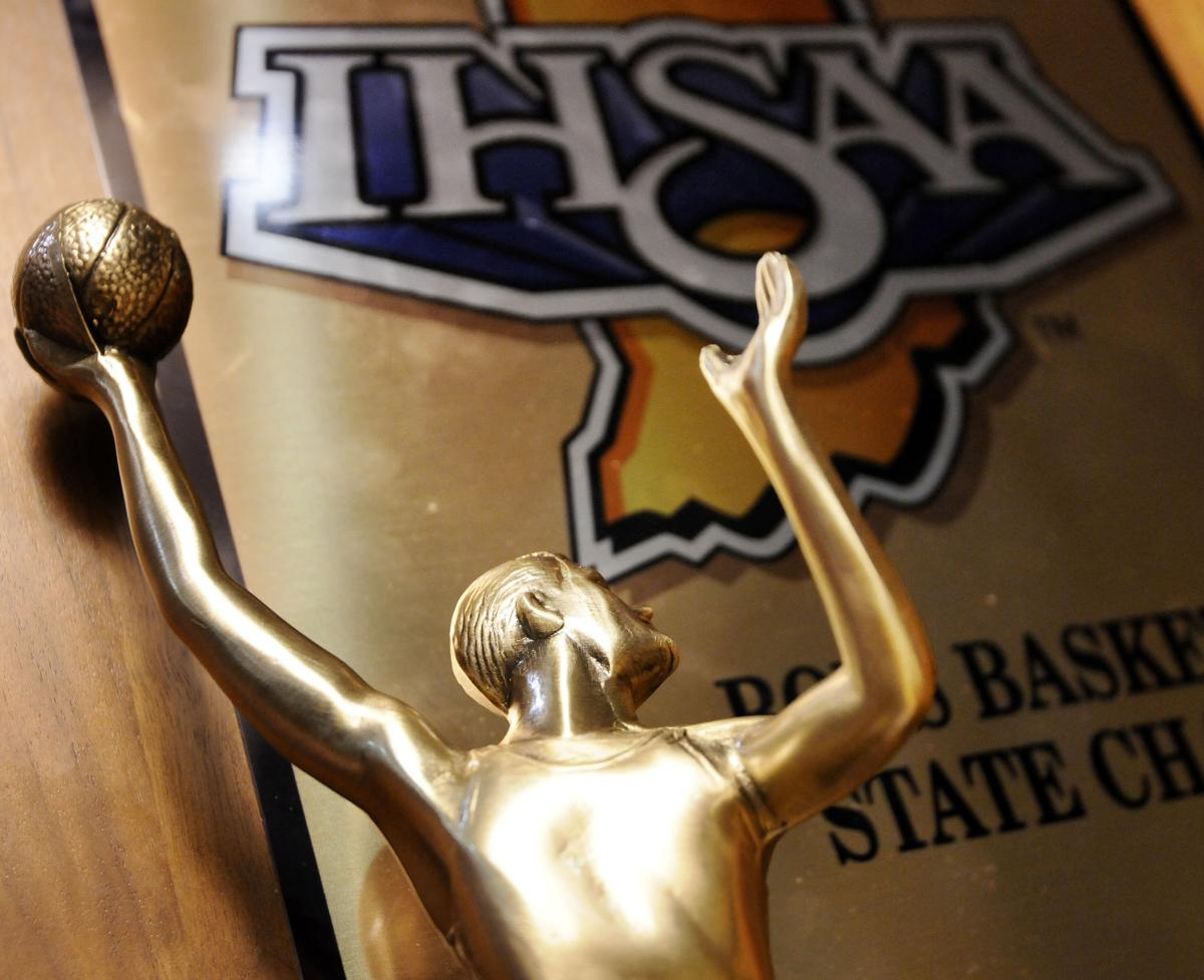 IHSAA state championship trophy
