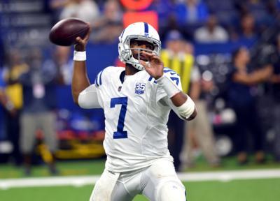 Jacoby Brissett 2.jpg. Colts quarterback Jacoby Brissett throws a ... a663663f6