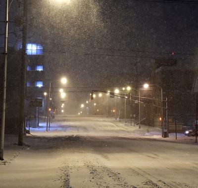 Monday evening snowstorm