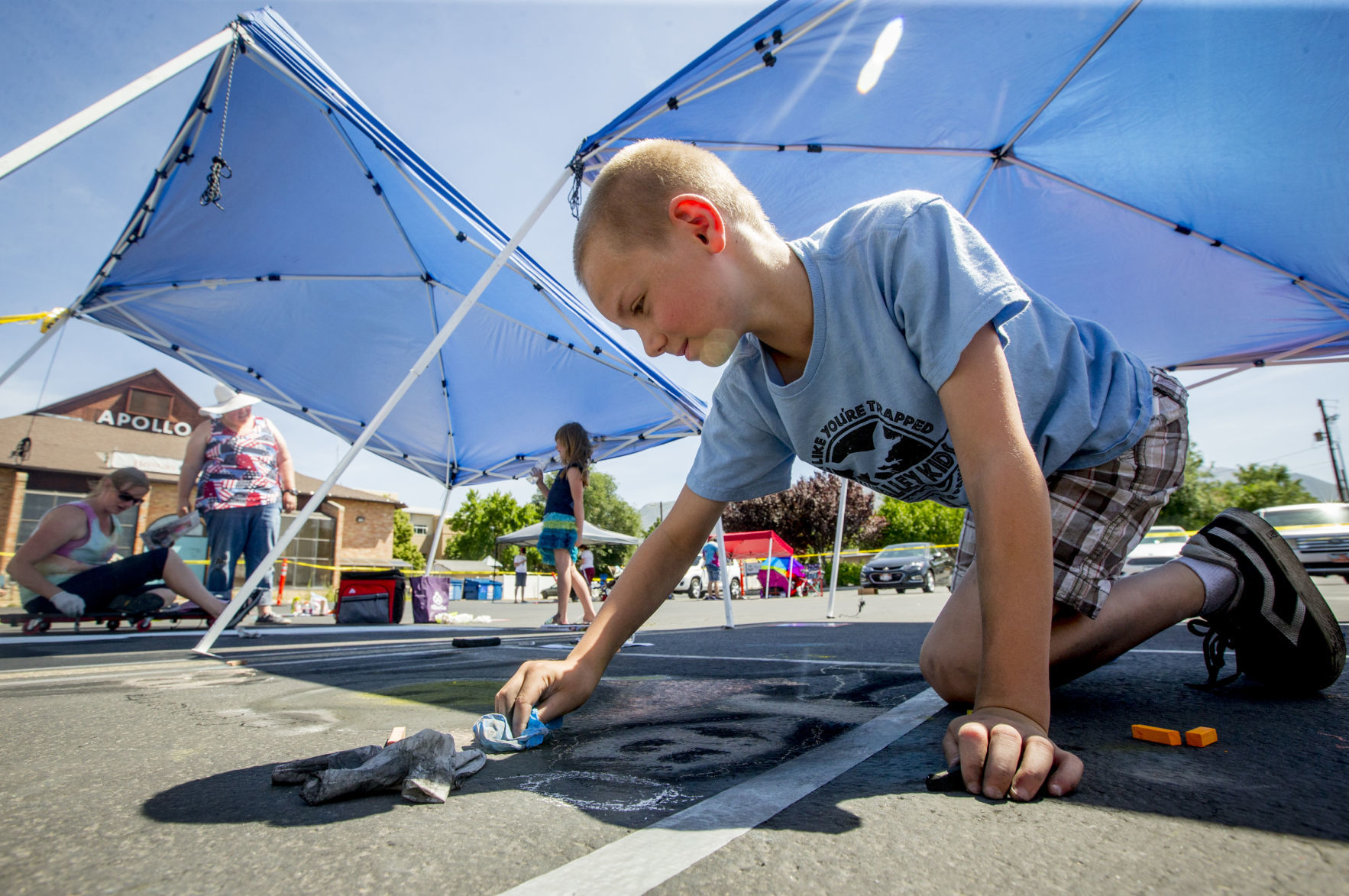 Photos: Chalk art festival brightens up American Fork Steel Days