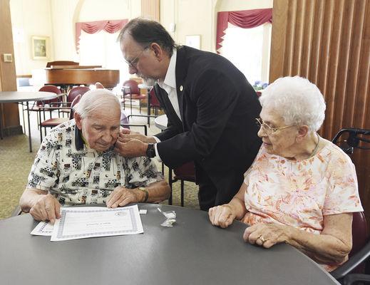 St. Joseph Mason receives rare 70-year service pin