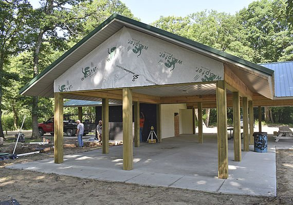 North Lake Park pavilion nears completion