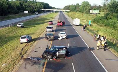 Paw Paw man, baby injured in 6-car collision