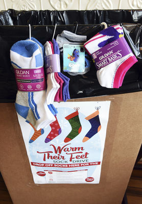 Masonic Lodge's sock drive marches on