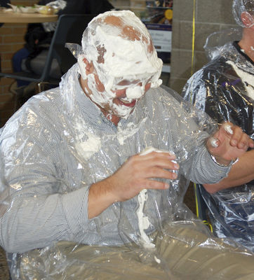 Fundraiser gets a little messy for a good cause