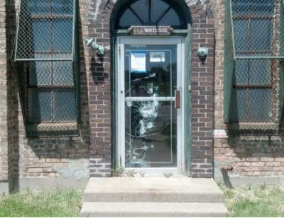 Overton factory entry way