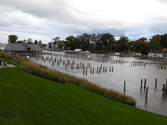 High water floods portions of SH harbor