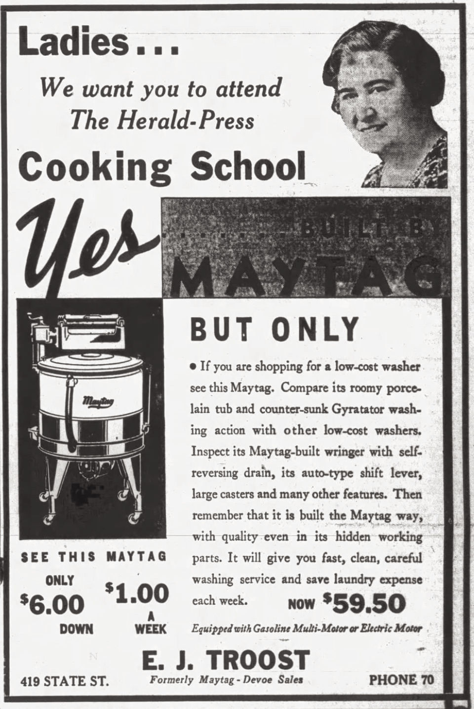 Maytag cooking school