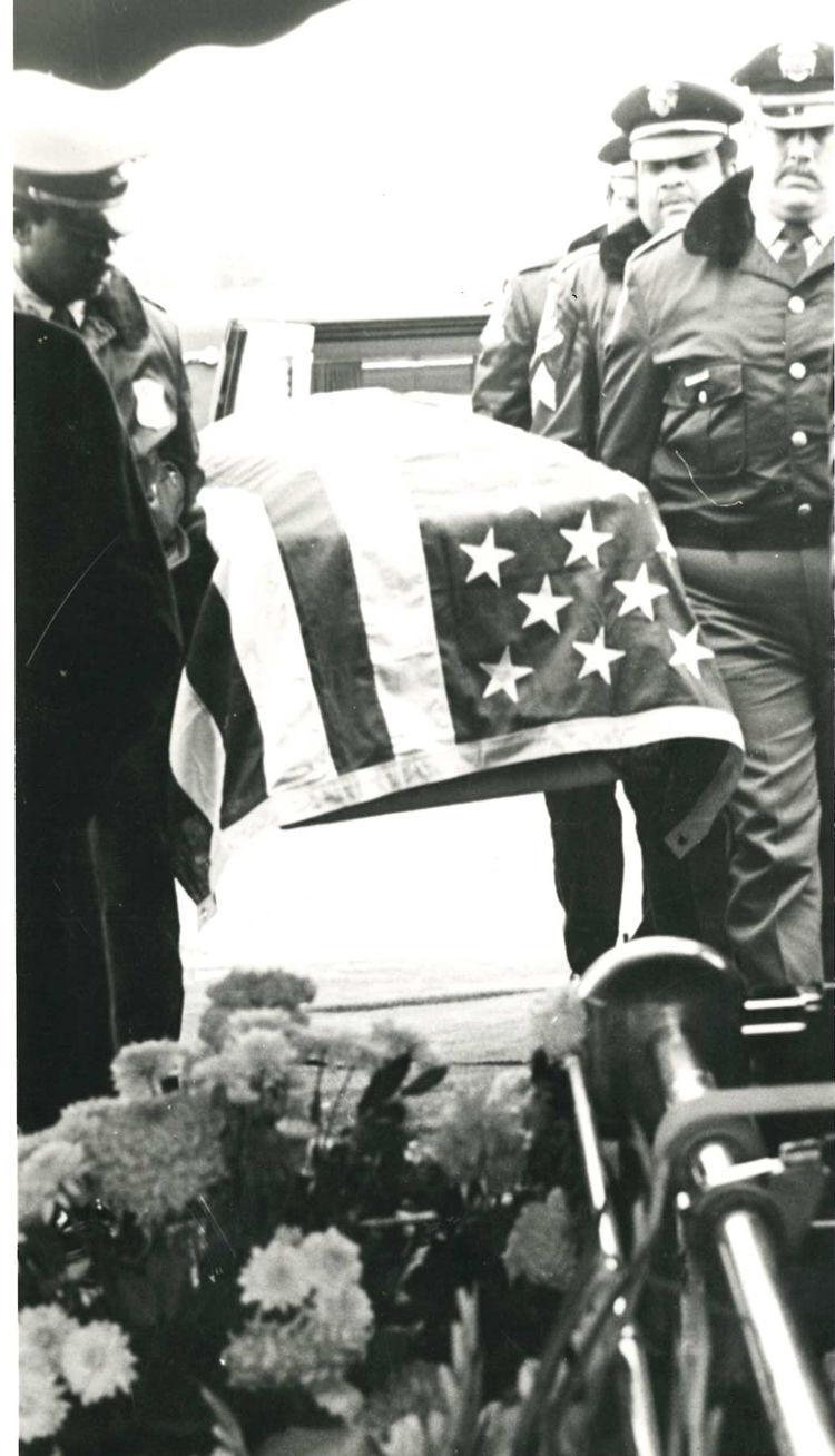 Officer McAllister's casket