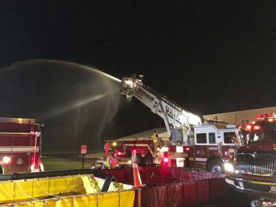 Large scale fire department exercise deemed a success