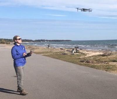 Shoreline drone image