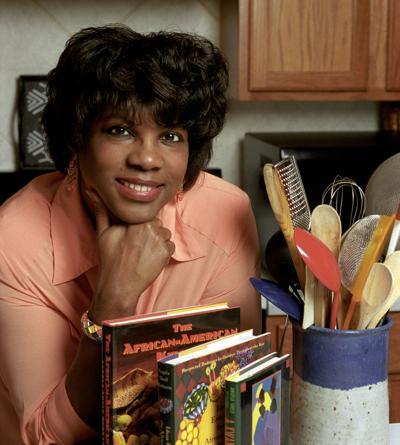 Angela Shelf Medearis With Cookbooks