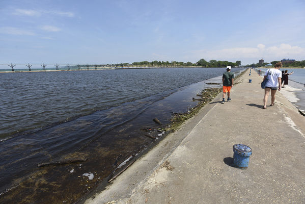 High water making piers treacherous