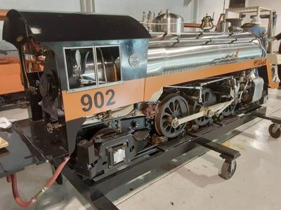 House of David train engine
