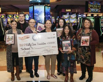 Four Winds donates to Kelly Cares Foundation