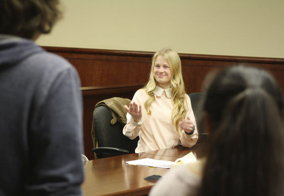 trying times at sjhs local news com sjhs mock trial team learns law on its own terms