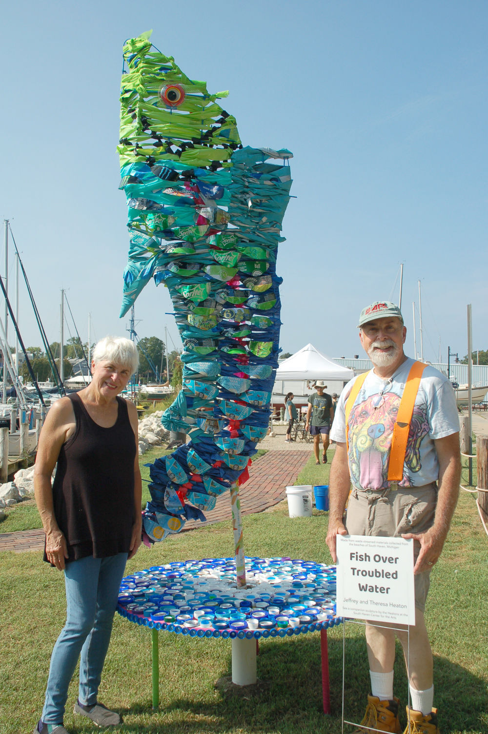 Make a splash artists with sculpture