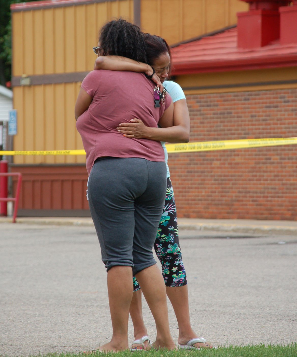 SH shooting Patricia Newell hugging