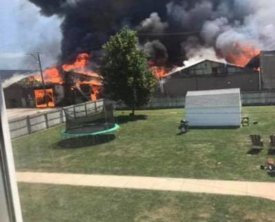 Union Hill's Van Fab and Post Office a Total Loss