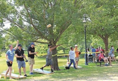 Cornhole event raises money for Merrimack River cleanup