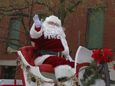 Santa Claus is coming to town on Sunday