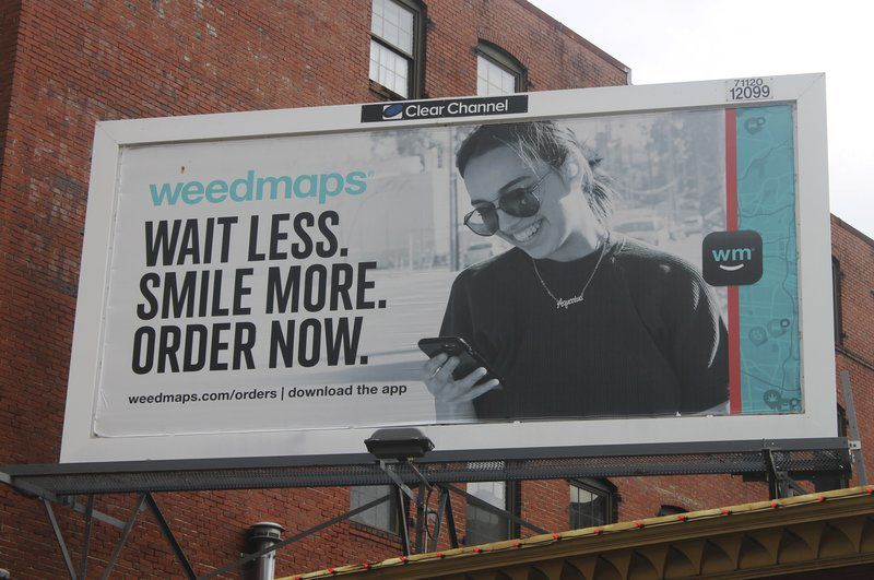 Pot sales ad removed from billboard