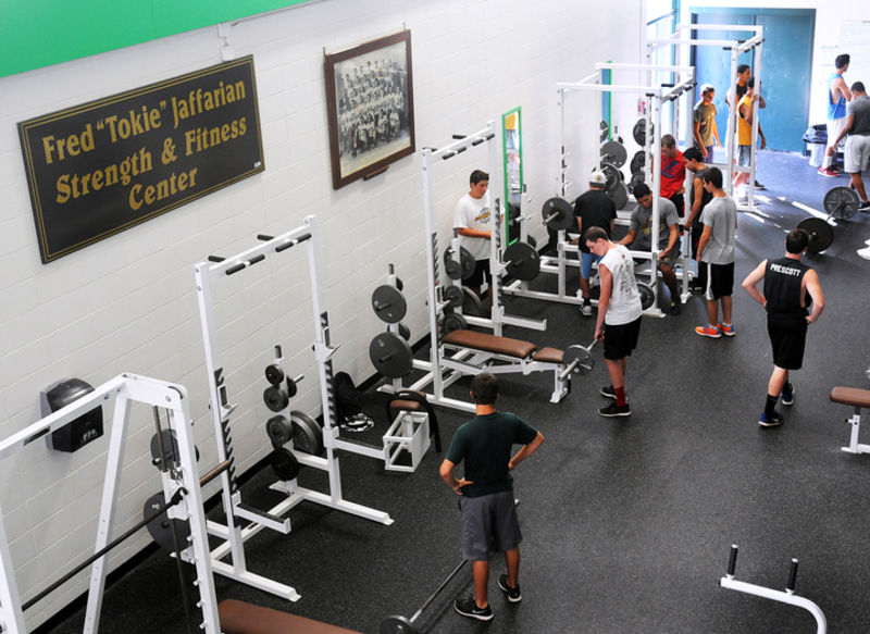 The old weight room was renovated and named this past spring.