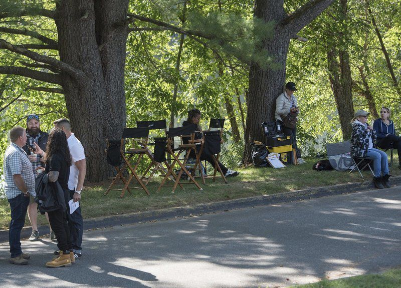 TV crew sets up in Haverhill
